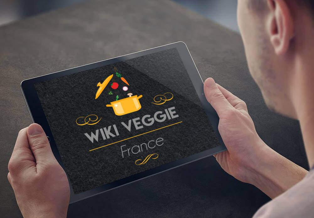 Création du logo Wiki Veggie par My Little Com' agence de communication à Brest