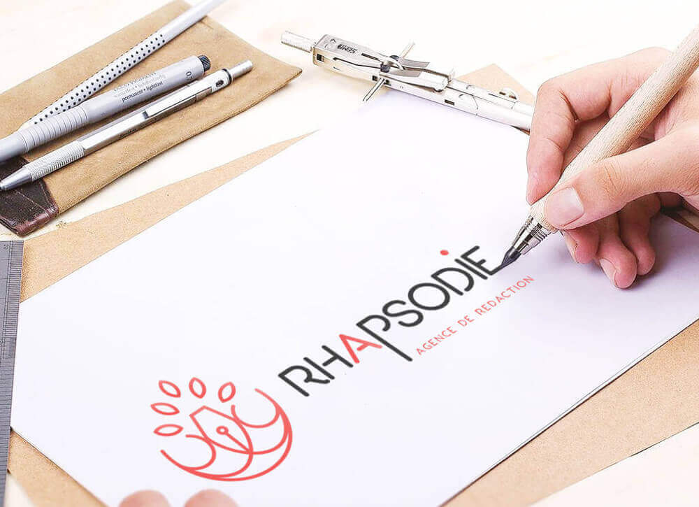 My Little Com' Brest - Création d'un logo pour l'agence de rédaction web Rhapsodie